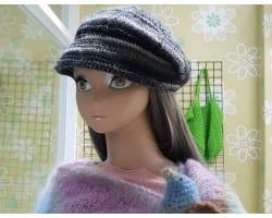 貝雷帽簷毛線帽