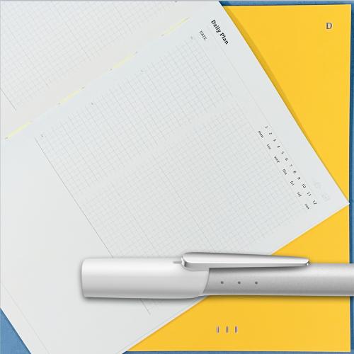 銀白色/黃色日計畫