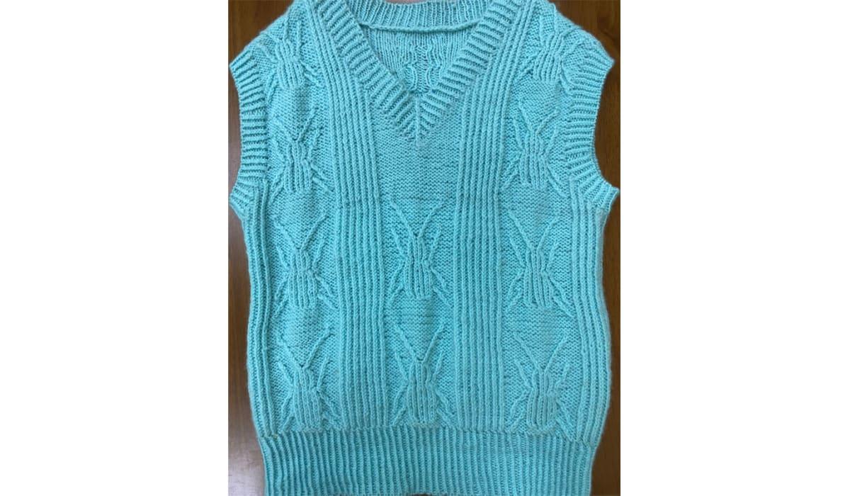 男童甲蟲100%羊毛編織背心