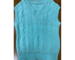 男童甲蟲100%羊毛編織背心  (110cm-120cm)